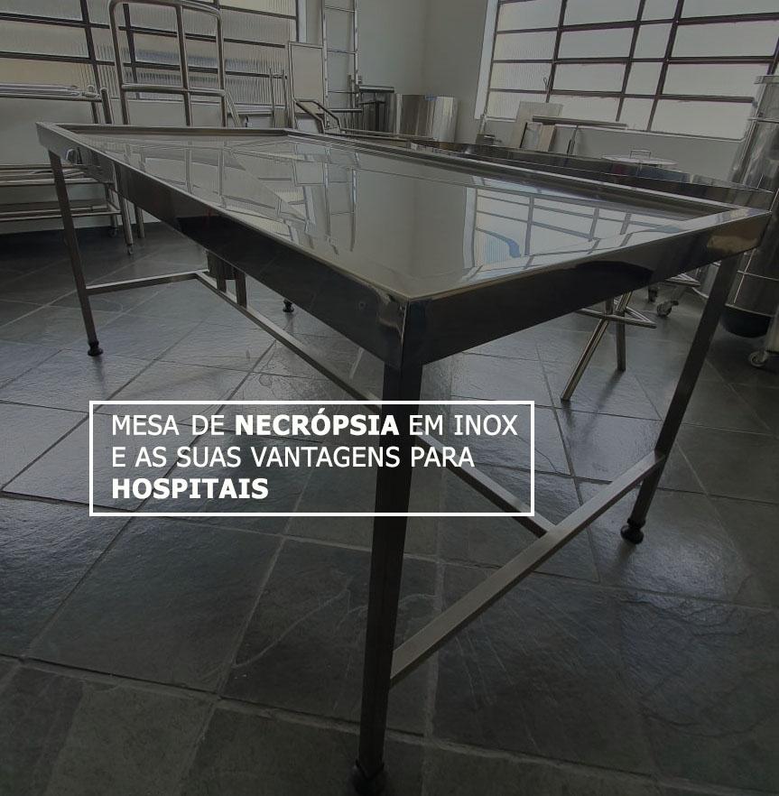 Mesa de necrópsia em inox e as suas vantagens para hospitais